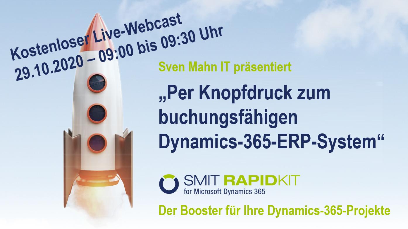 """Webcast: """"Per Knopfdruck zum buchungsfähigen Dynamics-365-ERP-System"""""""